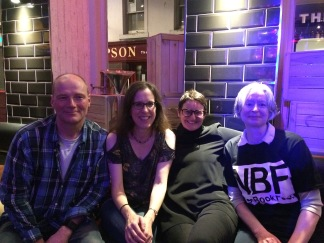 Late end to the Ness Book Fest launch with Alan Dapre, Mary Paulson-Ellis and Pauline MacKay